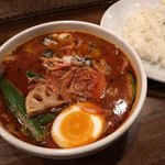 CHUTTA! - 牡蠣と桜えびのスープカリー 1450円+ラトゥスープ50円