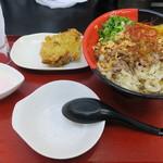 極楽うどん TKU - 士幌牛の焼肉風肉うどん+鶏天