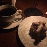 cotton. - デザート(モンブランケーキ)とコーヒー