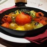 81763679 - 「フルーツトマトとカラフルトマトの石釜焼き」