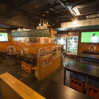 【60型の大型モニター3台設置】スポーツバー感覚の居酒屋♪
