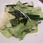 徳寿 - セットのサラダ。