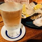 品川牡蠣入レ時 - 夜明け前 辛口(780円)