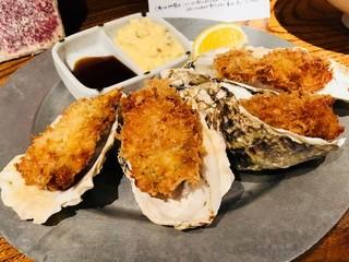 品川牡蠣入レ時 - 特選 牡蠣フライ いぶりがっこタルタル(990円)