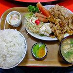 喜味屋食堂 - 焼き肉定食(大盛り)