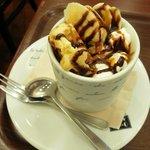 CAFE do CENTRO - キャラメルバナナアイスワッフル(?)