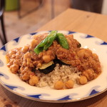 CAFE すずなり - ひよこ豆とたっぷり野菜のキーマカレー¥700