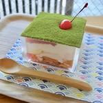 めんちゃや - 【3月限定〜タピオカ入り〜抹茶と桜あんのティラミス ¥650(セット価格は¥50増し)】