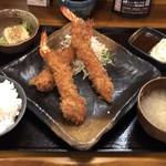 大衆食堂 山 - 海老フライ定食¥850