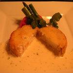 洋風旅館 ぴのん - お魚 すずきのカツレツクリームソース