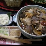 うどん茶屋水沢 万葉亭 - きのこうどん(1000円)