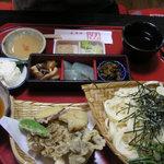 うどん茶屋水沢 万葉亭 - 万葉御膳(1500円)