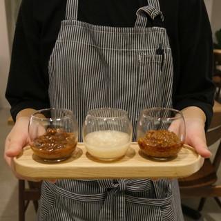 自家製の発酵調味料を使用した料理をお楽しみください♪
