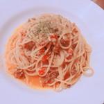 81792552 - ラムひき肉のミートソーススパゲッティ