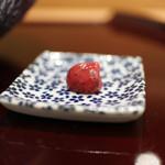 寿司英 - 穴子のあらい 梅肉☆