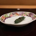 寿司英 - 鯵のなめろう しそ巻き☆