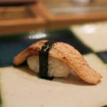 寿司英 - 能登 寒ブリの炙り☆
