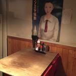 きど藤 - 奥のテーブル