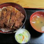 柏屋食堂 - 上名代ソースかつ丼(ロース厚切り):1200円