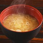 鶏ガラの味噌汁