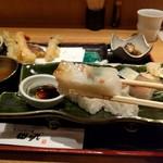 天ぷらと旬の肴 田丸 - 鯛はあっさり