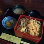 日本料理若水 - えび天とかき揚重(864円)