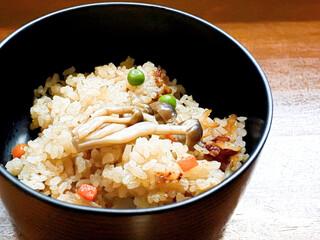 釜あげうどん 長田 in 香の香 - 炊き込みご飯