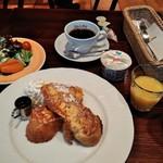 カフェラヴォワ - [料理] フレンチトースト 朝食の全景♪w