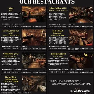 六本木-麻布十番に系列店舗が7店舗あります!!