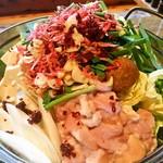 遊・膳 晴れ屋 - 海老味噌もつ鍋