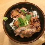 焼鳥のヒナタ - 炭火塩焼鳥丼 650円