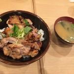 焼鳥のヒナタ - 旨い味噌汁付いてるデェ〜♬