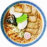 福寿 - 料理写真:上五目ラーメン(770円)。大盛りとワンタン追加はそれぞれ50円増で承ります。