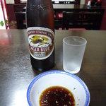 大貫 - ビールと餃子タレ