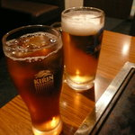 いってつ - ビールとウーロン茶で乾杯