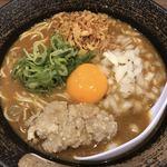麺屋 甲武信 - フライドチキン カレーらめん
