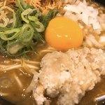 麺屋 甲武信 - フライドチキン カレーらめん アップ