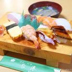 長津寿司店 - 2018年1月 にぎり寿司【1300円】このお値段では絶品です!