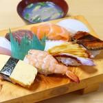 長津寿司店 - 2018年1月 にぎり寿司。特にイカ、タコが素晴らしかった!