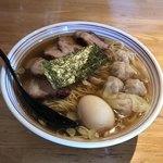 支那そば なかじま - わんたん焼豚そば ¥1,150 味付玉子 ¥100 麺大盛 ¥100