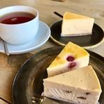 テントン - チーズケーキ3種と紅茶♡