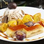 タンジェリン - ドルチェ盛り合わせ(モンブラン、リンゴのシブ―スト、サツマイモのカラメリゼ)