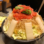 つくしや - もち明太子チーズもんじゃ 1400円。