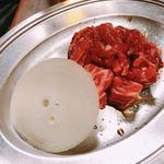 さんきゅう - 中落ちカルビ。限定の希少部位。まるでステーキの様な味と食感。