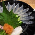 魚楽唐唐 - 甘鰈 うす造り(淡路)(2011.6)