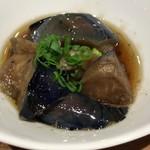 博多筑紫口 肉寿司 - お通し なすの煮びたし