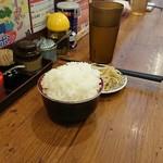 麺房 十兵衛 - ライス無料