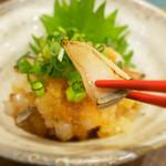 Taruichi - 炙り本皮のおろし和え