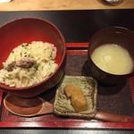 炭火割烹 白坂 - 食事 炊き込みご飯