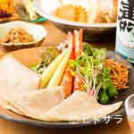 山せみ - 蕎麦の風味が効いている『蕎麦クレープ野菜包み』